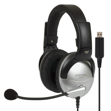Koss Headphone SB45 USB On Ear w/Mic Passive Noise Cancel