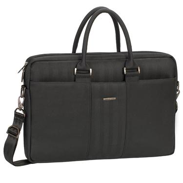 RivaCase Laptop Bag 15.6in Narita Black Business Attache