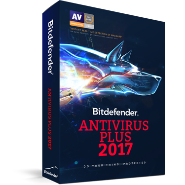Bitdefender Antivirus Plus 2017 3-User 2Yr BIL