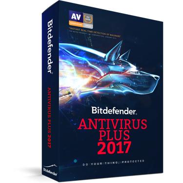 Bitdefender Antivirus Plus 2017 3-User 2Yr BIL