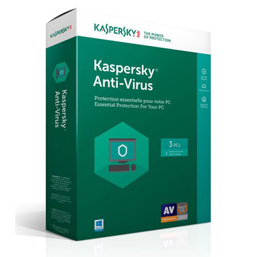 Kaspersky Antivirus 2018 3-User 1-Year BIL