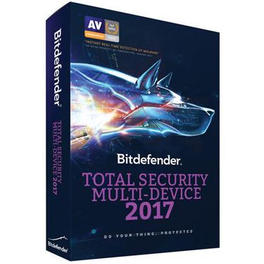 Bitdefender Total Security 2017 Multi-Device 5-User 1Yr