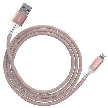 Ventev Charge & Sync Lightning Cable 4ft Alloy Rose Gold