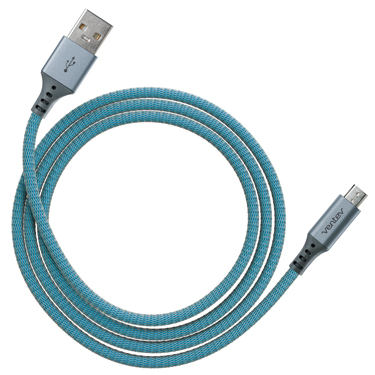 Ventev Charge & Sync Micro USB Cable 4ft Alloy Cobalt
