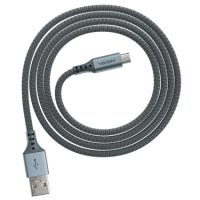 Ventev Charge & Sync Micro USB Cable 4ft Alloy Steel Gray