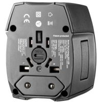 Ventev Global Charging Hub 300 2.4a Dual USB w/Intl Wall Plug