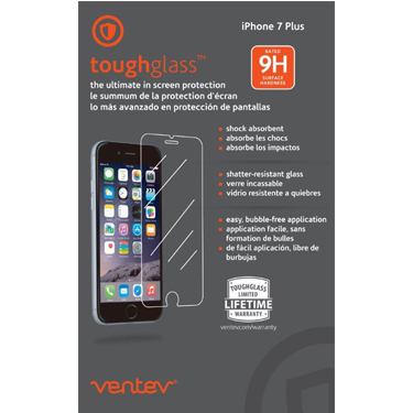 Ventev Tempered Glass Screen Protector iPhone 7+/8+ Clear