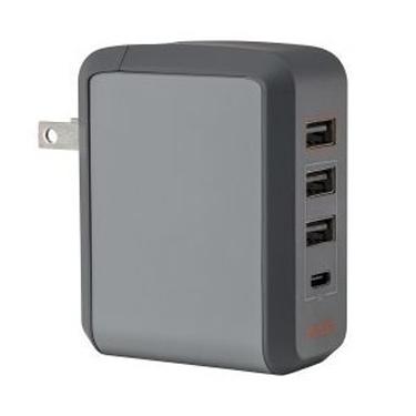 Ventev Wall Charger 4Port 5.4A 2.4A USB-A / 3A USB-C+2x USB-A