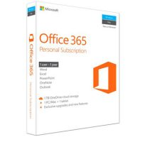 Microsoft Office 365 Personal 1 PC or Mac +1 Tablet 1Yr