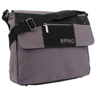 Buffalo Messenger Bag 15.6in Frank Collection Grey