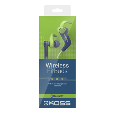 Koss Wireless Bluetooth FitBud BT1901i w/mic & remote blue