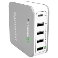Digipower Wall Charger 5-Port w/Type C & Qualcomm 3.0