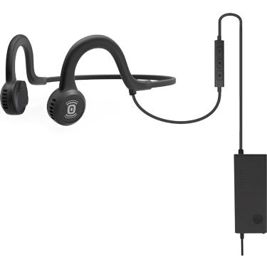 Aftershokz Sportz Titanium Wired Headphone w/Mic Onyx