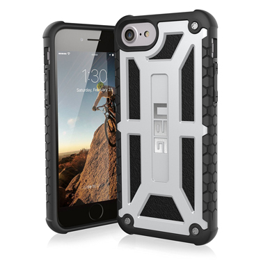 UAG iPhone 6S/7/8 Monarch Silver/Black Platinum