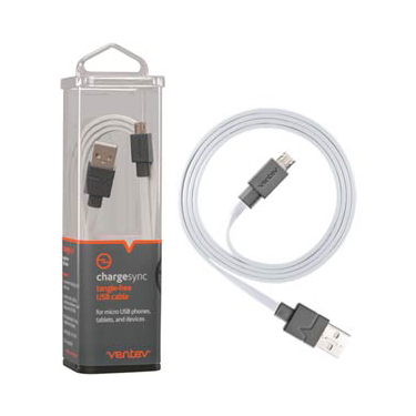 Ventev Charge & Sync Micro USB Cable 3.3ft White