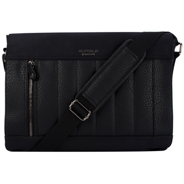 Buffalo Messenger Bag 15.6in Stockholm Collection Black