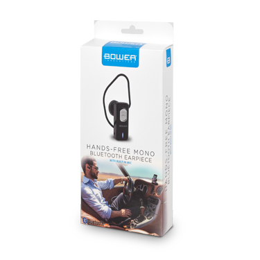 Bower Bluetooth Earpiece Mono w/Mic Black