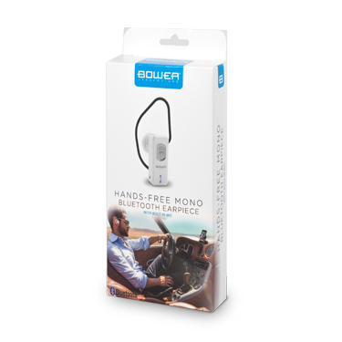 Bower Bluetooth Earpiece Mono w/Mic White