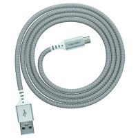 Ventev Charge & Sync Micro USB Cable 4ft Alloy Silver