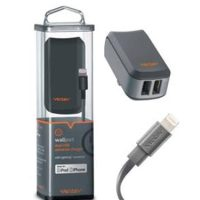 Ventev Wall Charger 2Port 2.4A 12W/Port w/Lightning Cable MFI