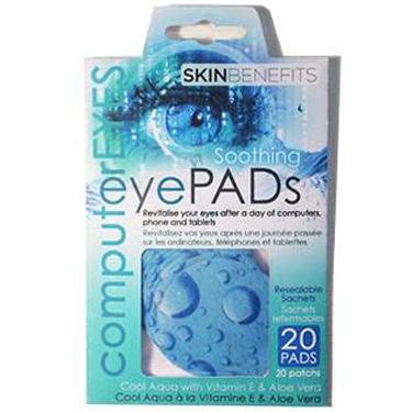 Amirose Computer Eyes Cool Aqua Eye Pads 20Pk
