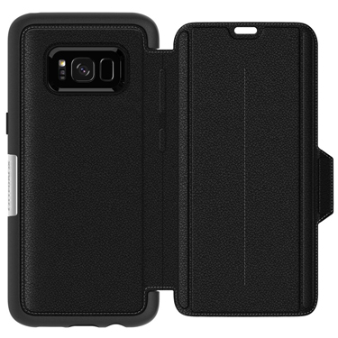 OtterBox Galaxy S8 Strada Folio Black/Black Onyx Leather