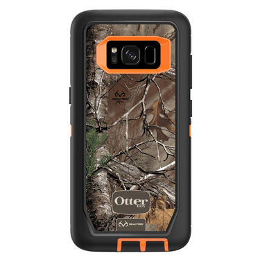 OtterBox Galaxy S8 Defender Camo Orange/Blk Realtree Xtra