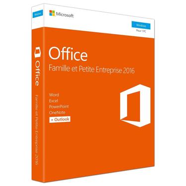 Microsoft Office 2016 Famille et Petite Entreprise PC French