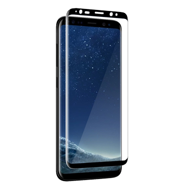 Nitro Galaxy S8+Tempered Glass Curved Black