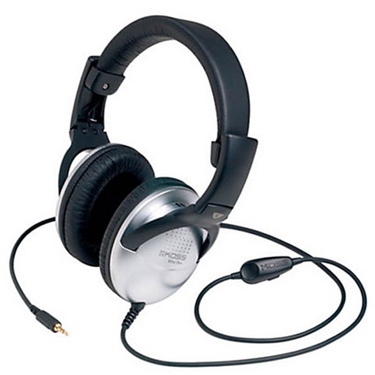 Koss Headphone UR29 Foldable w/volume control Black/Silver