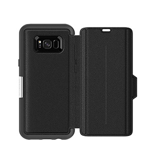 OtterBox Galaxy S8+ Strada Folio Black/Black Onyx Leather