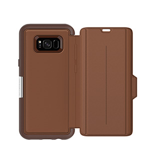OtterBox Galaxy S8+ Strada Folio Brown/Brown Leather