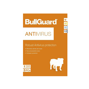 BullGuard Antivirus 1Yr 3-User OEM Digital Key