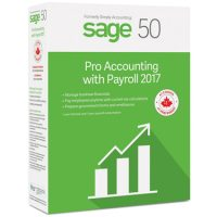 Sage 50 Pro Accounting 2017 w/Payroll 1-User BIL
