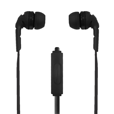 Ecko Amped Earbuds Stereo w/Mic & Control Black