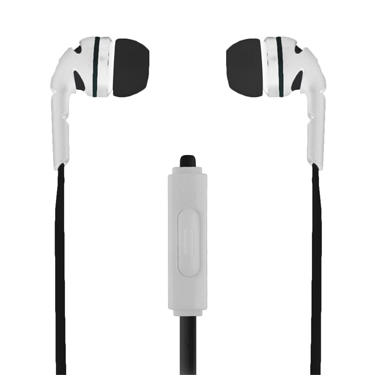Ecko Amped Earbuds Stereo w/Mic & Control White