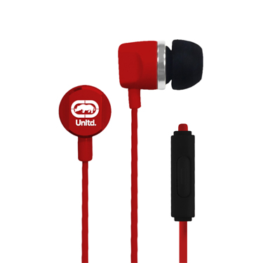 Ecko Royce Earbuds Metal w/Mic & Control Red