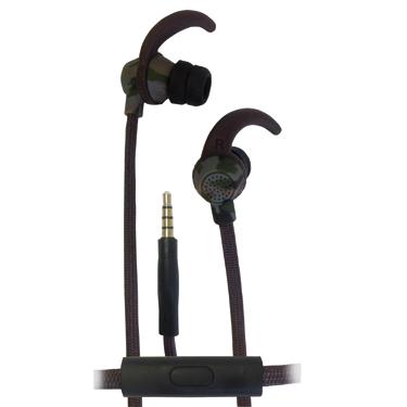 Ecko Combat Earbuds Sport Hook w/Mic & Control Camo Green