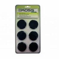 Koss Portable Replacement Ear Cushions Black 6-pk