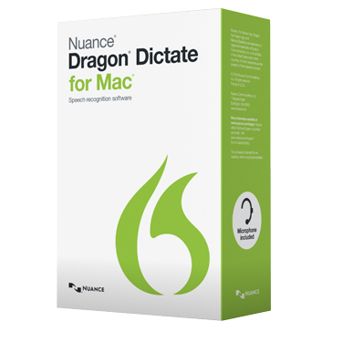 Dragon Dictate 4.0 w/standard headset for Mac