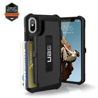 UAG iPhone X Trooper Card Black/Silver