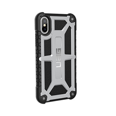 UAG iPhone X Monarch Black/Silver Platinum