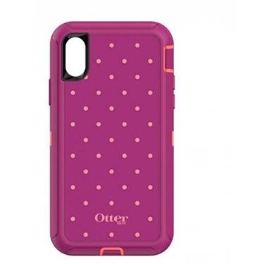 OtterBox iPhone X Defender Coral/Red Coral Dot Metallic