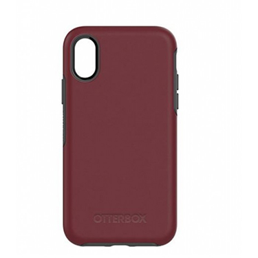 OtterBox iPhone X Symmetry Red/Grey Fine Port