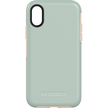 OtterBox iPhone X Symmetry Blue/Silver Muted Waters