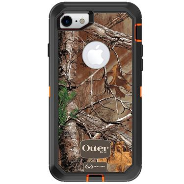 OtterBox iPhone 7/8 Defender Camo Orange/Blk Realtree Xtra