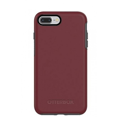 OtterBox iPhone 7+/8+ Symmetry Red/Grey Fine Port
