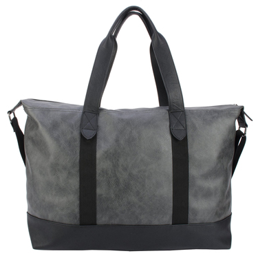 Buffalo Chrome Duffel Bag Grey w/15.5 Padded Laptop Slv
