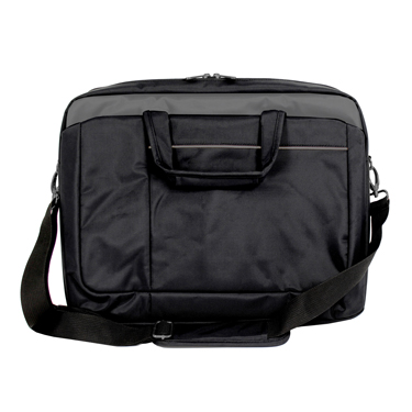 ToteIt! Laptop Bag Signature 17.3in Black Weather Resistant