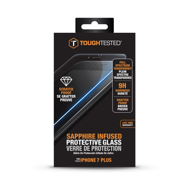 Tough Tested Sapphire Tempered Glass iPhone 7+/8+